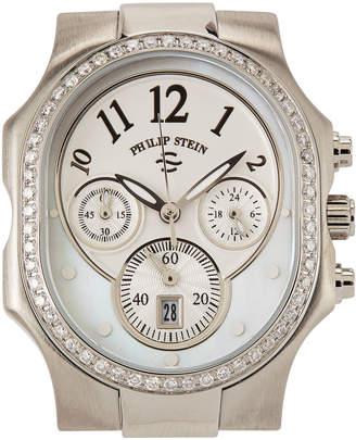 Philip Stein Teslar Stainless Steel Chronograph Watch Head, Size 2