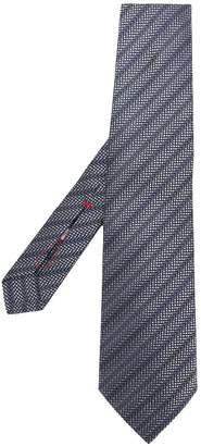 Isaia stripe printed tie