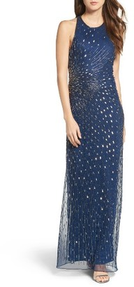 Women's Adrianna Papell Mesh Column Gown $249 thestylecure.com