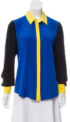 Prabal Gurung Colorblock Button-Up Top