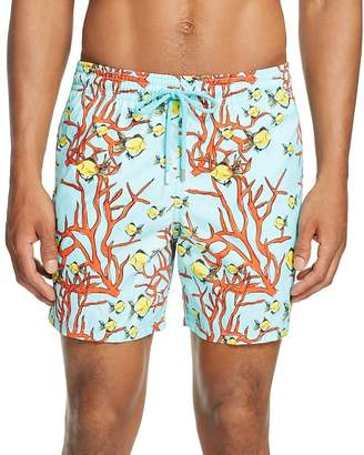 Vilebrequin Moorea Coral Fish Print Swim Trunks $280 thestylecure.com