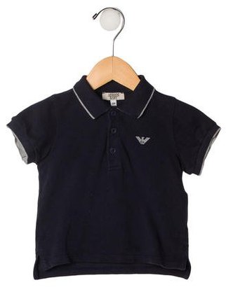 Armani Junior Boys' Short Sleeve Polo Shirt $45 thestylecure.com