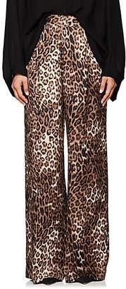 Nili Lotan Women's Vivianna Leopard-Print Silk Pants - Leopard Print