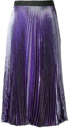 Christopher Kane lame pleated skirt