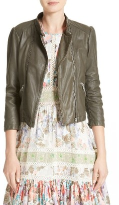 Women's Rebecca Taylor Leather Moto Jacket $950 thestylecure.com