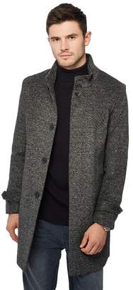 Red Herring Dark Grey Collared Epsom Coat With Wool