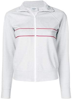 Dondup stripe detail zipped sweatshirt