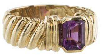 David Yurman 14K Amethyst Cocktail Ring
