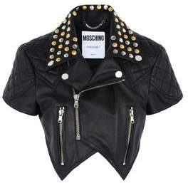 Moschino OFFICIAL STORE Leather outerwear