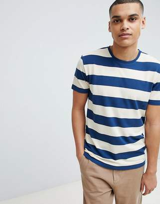 Selected Stripe T-Shirt In Organic Cotton