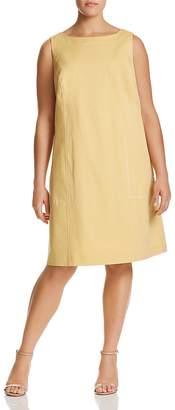 Lafayette 148 New York Plus Paxton Topstitched Dress