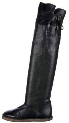 Stella McCartney Knee-High Vegan Leather Boots