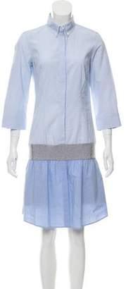 Brunello Cucinelli Flared Pinstripe Shirtdress