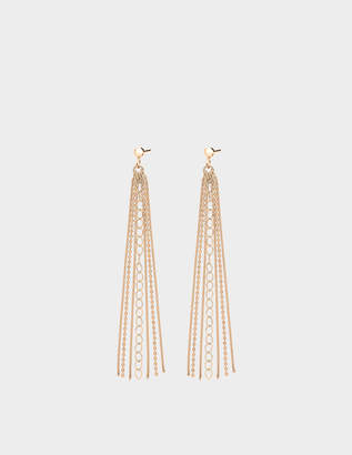 ginette_ny Unchained 18-karat rose gold earrings
