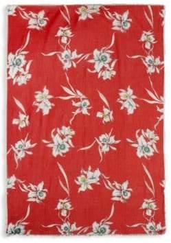Valentino Floral Cotton & Silk Square Scarf