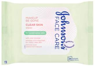 Care Johnson's Face Makeup Be Gone Clear Skin Wipes 25s