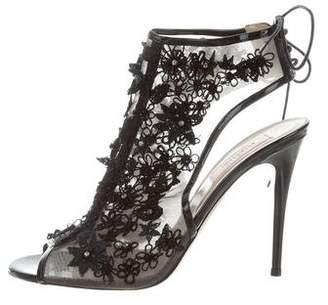 Valentino Embellished Peep-Toe Pumps