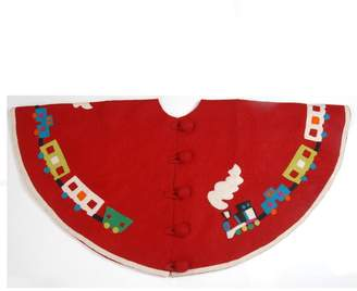 Toy Train Christmas Tree Skirt