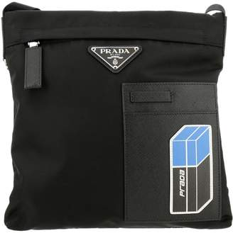 Prada Bags Nylon Bag With Classic Triangular Logo By Zip And Saffiano Leather Patch