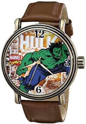 Marvel Men's W001764 Hulk Vintage Analog-Quartz Brown Watch