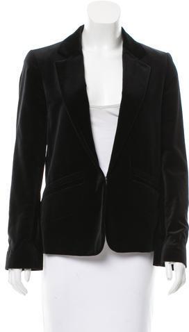 Chloé Chloé Velvet Button-Up Blazer