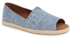 Women's Toms Open-Toe Espadrille Slip-On $63.95 thestylecure.com