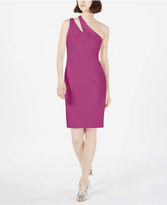 Calvin Klein Cutout One-Shoulder Sheath Dress