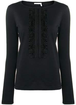 See by Chloe slim-fit ruffle detail blouse