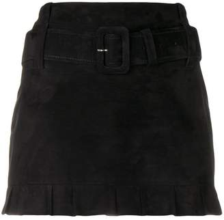Prada belted midi skirt
