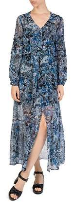 The Kooples Paisley Silk Maxi Dress