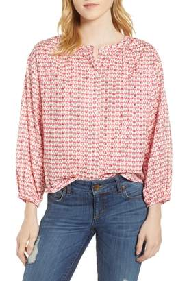Velvet by Graham & Spencer Embroidered Print Blouse