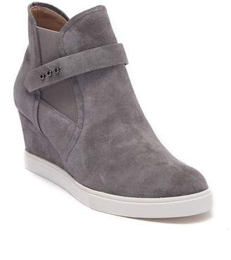 Linea Paolo Freshton Leather High-Top Wedge Sneaker