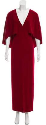 Halston Cape Embellished Gown