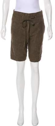 Tory Burch Knee-Length Suede Shorts