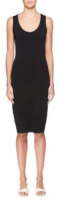 The Row Borelle Scoop-Neck Sleeveless Fitted Dress