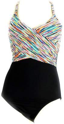 Anne Cole Women's Twist Front Swimsuit Multicolor
