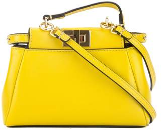 Fendi Yellow Leather Micro Peekaboo Bag (New with Tags)