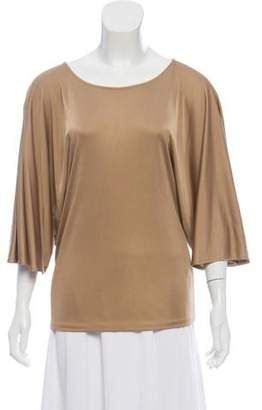 Ralph Lauren Black Label Silk Scoop Neck Blouse