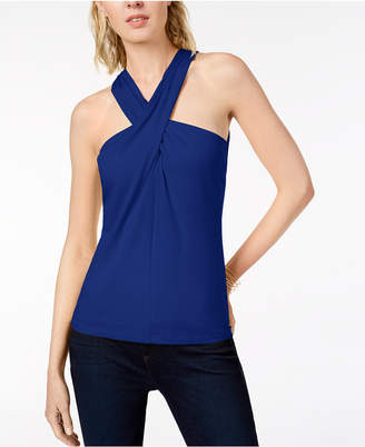 INC International Concepts I.n.c. Twisted Halter Top, Created for Macy's