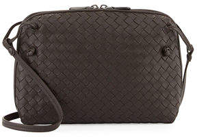 Bottega Veneta Intrecciato Messenger Bag, Dark Brown