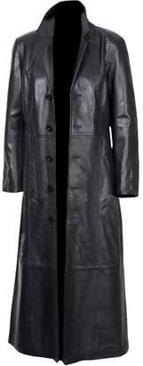 2nd Skin Men's Long Coat, Trench Coat Original Lambskin Leather Glossy Finish (XL)