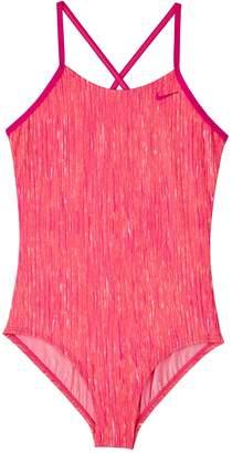 4dbe4c0c34 Nike Girls 7-16 Heather Crossback One-Piece Swimsuit
