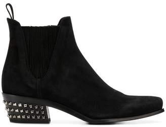 Miu Miu studded heel ankle boots
