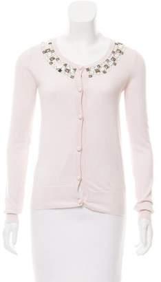 Tara Jarmon Embellished Button-Up Cardigan