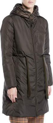 Moncler Bruant Belted Utility Coat