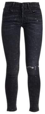 R 13 Alison Snake Foil Skinny Jeans