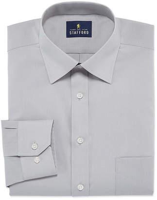 STAFFORD Stafford Travel Easy-Care Stretch Broadcloth Long Sleeve Broadcloth Dress Shirt