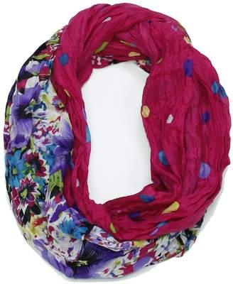 Violet Del Mar Floral Infinity Scarf