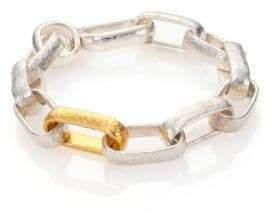 Gurhan Hoopla 24K Yellow Gold& Sterling Silver Geometric Link Bracelet