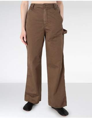 Maison Margiela Flared Satin Garment Dyed Trousers